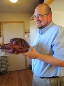Sean with turkey 2013