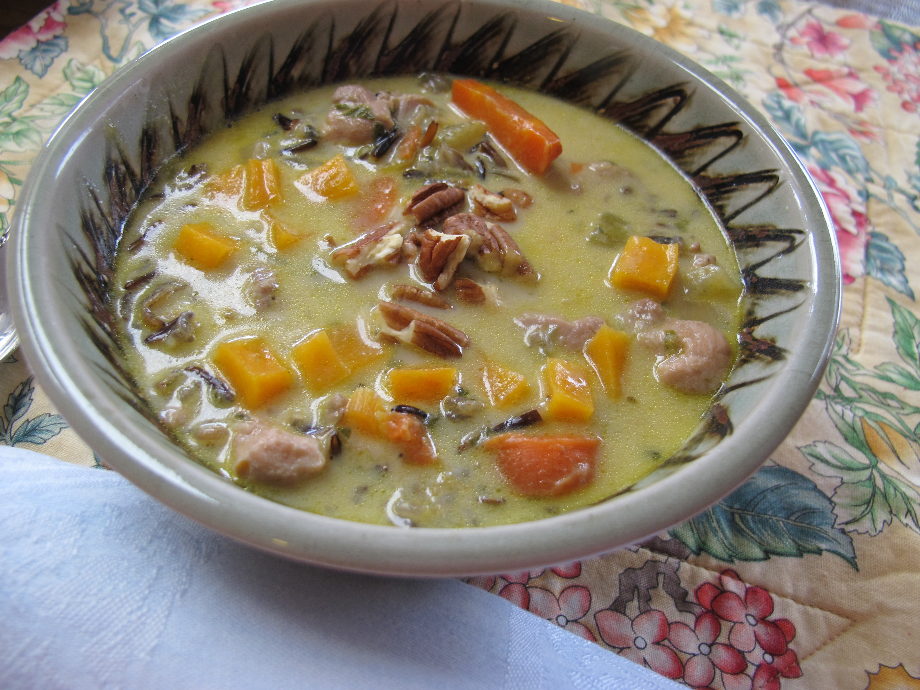 MORE TIME AT THE TABLEChicken-Wild Rice Soup with Butternut